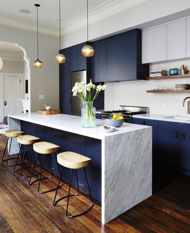 Beautiful Modern Kitchens With Islands Ideas: 25 COZINHAS COM CORES MODERNAS PARA SE INSPIRAR
