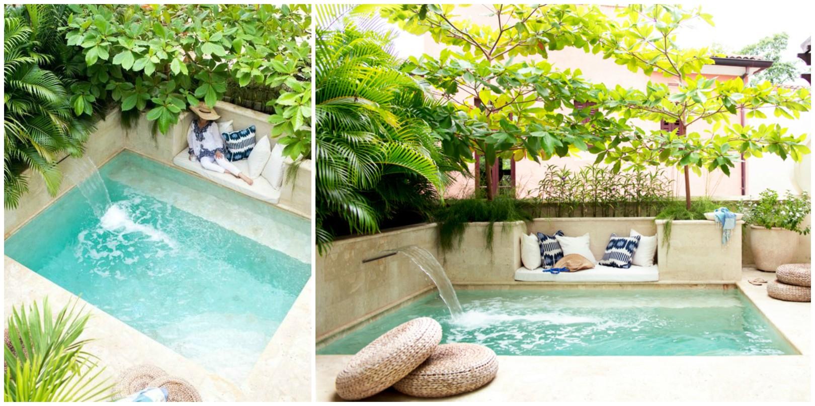 Ambientes pequenos qual a melhor escolha piscina spa - Piscinas interiores pequenas ...